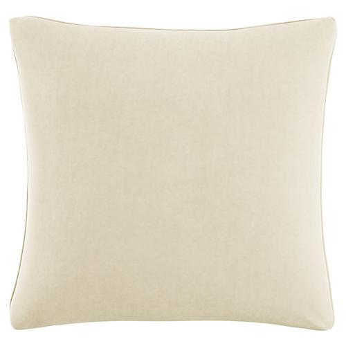 Zett 20x20 Pillow, Cream Velvet