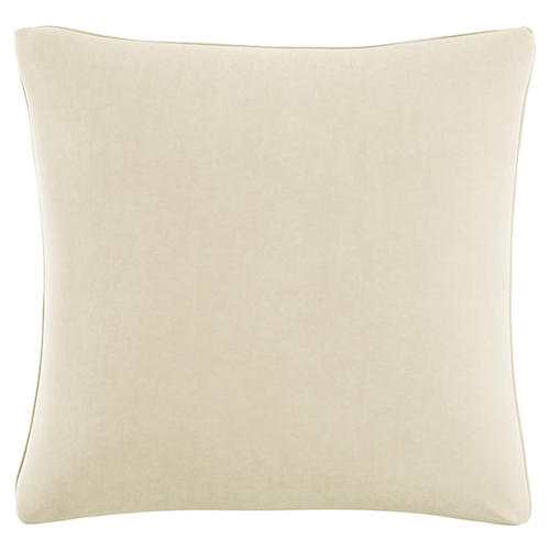 Zett 20x20 Pillow, Cream Velvet