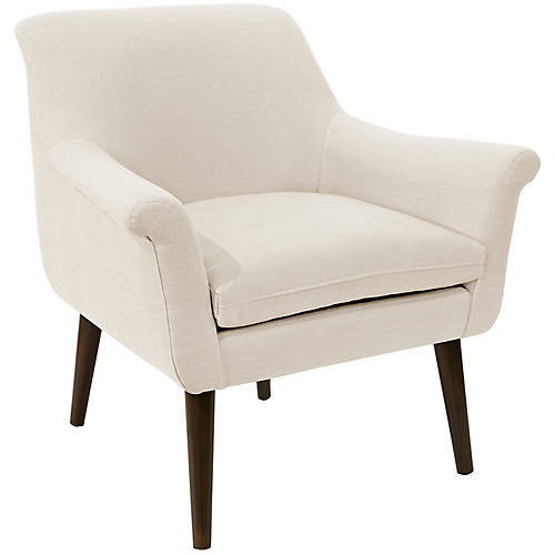 Harmon Accent Chair, Talc Linen
