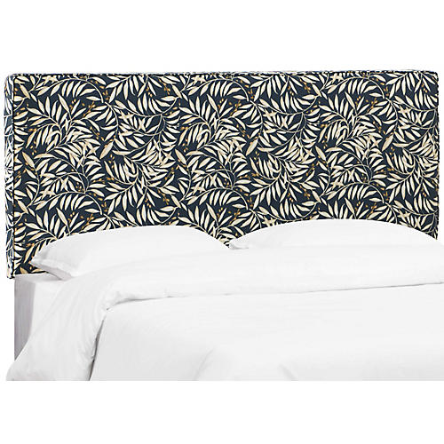 Macy Headboard, Navy Leaves