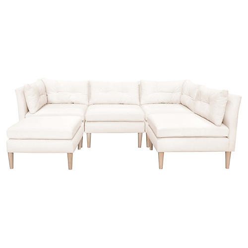 Madeline U-Shaped Sectional, Talc