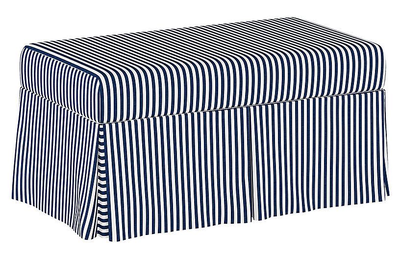 Hayworth Storage Bench, Stripe