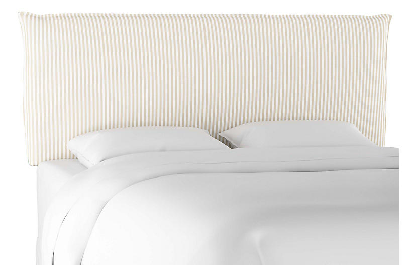 Frank Headboard, Natural Stripe Linen