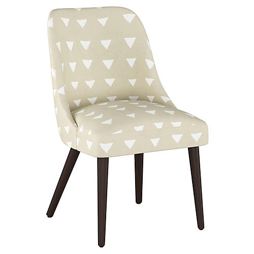 Barron Side Chair, Natural Triangle Linen