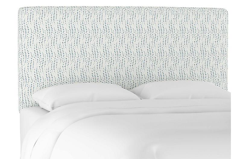 Macy Headboard, Ivory/Blue