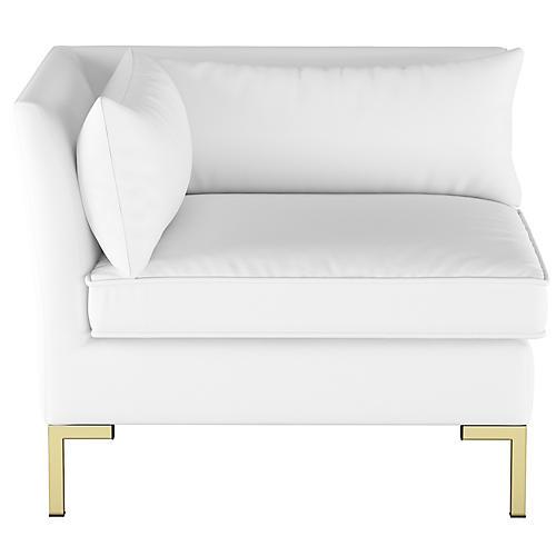 Marceau Corner Chair, White