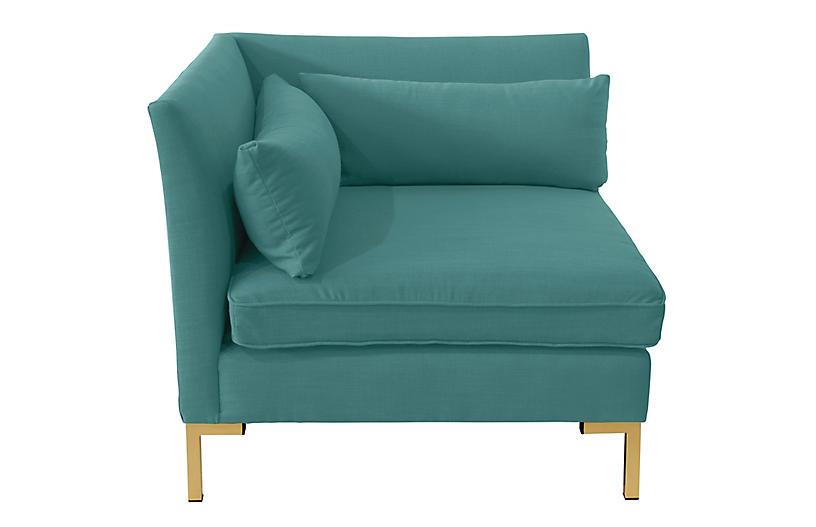 Marceau Corner Chair - Teal