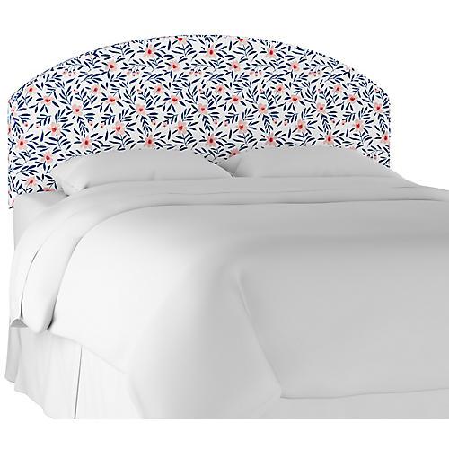 Sandie Curved Headboard, Blush Floral Linen