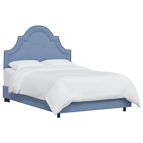 Kennedy Bed, French Blue Linen