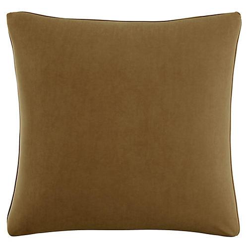 Zett 20x20 Pillow, Sand Velvet