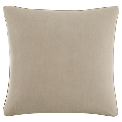 Zett 20x20 Pillow, Light Gray Velvet