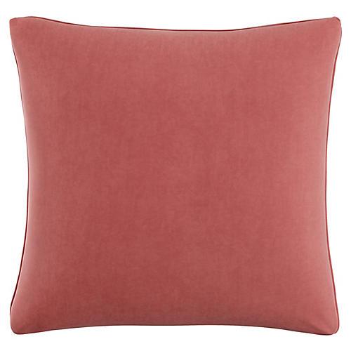 Zett 20x20 Pillow, Dusty Rose Velvet