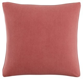 Zett 20x20 Pillow, Dusty Rose Velvet