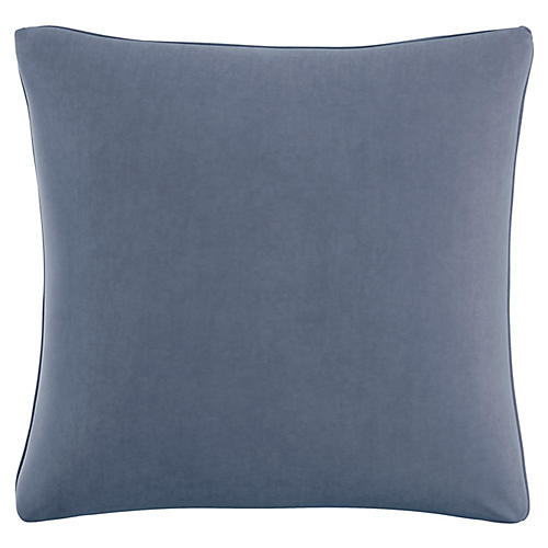 Zett 20x20 Pillow, Blue Velvet