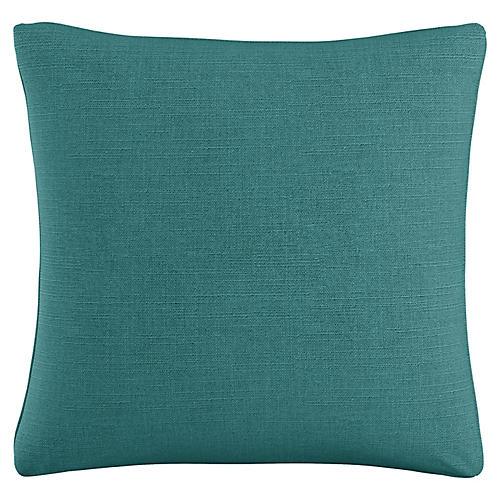Zett 20x20 Pillow, Teal Linen