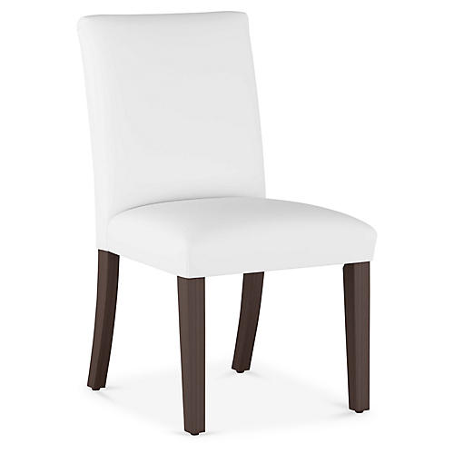 Erin Pleated Side Chair, White