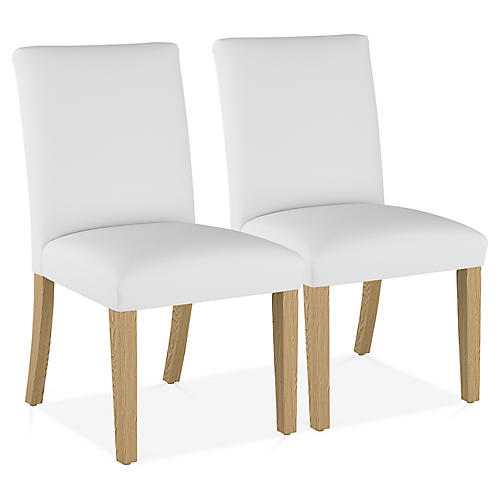 S/2 Shannon Side Chairs, White