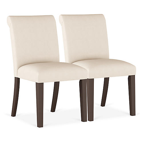 S/2 Carmen Side Chairs, Talc