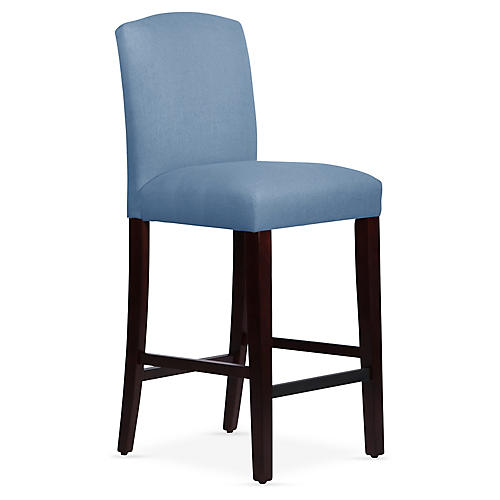 Marie Barstool, French Blue Linen
