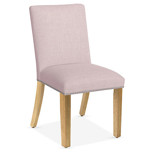 Kean Side Chair, Lilac Linen