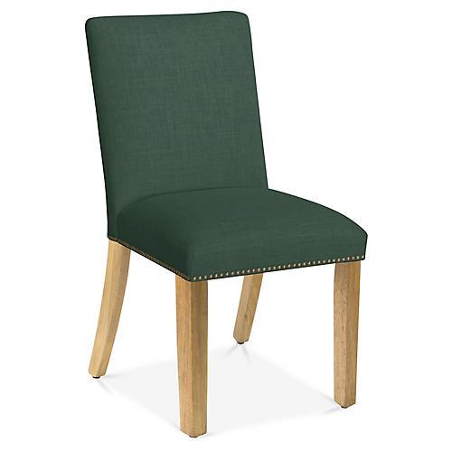 Kean Side Chair, Forest Linen