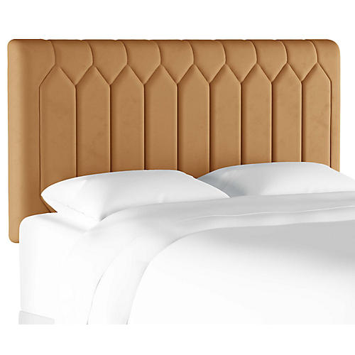 Catherine Tufted Headboard, Butterscotch Velvet