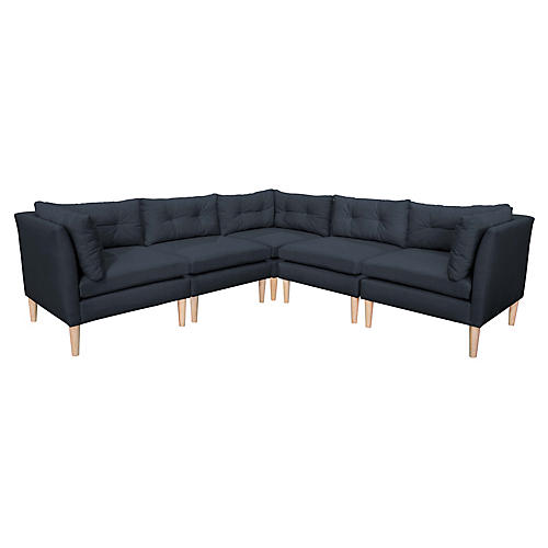 Madeline L-Shaped Sectional, Navy