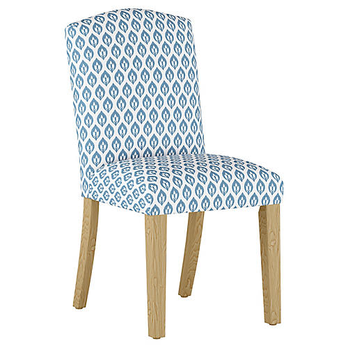 Marie Side Chair, Chambray Floral Linen