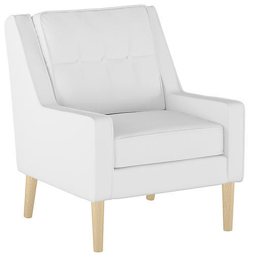 Shara Accent Chair, White