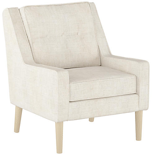 Shara Accent Chair, Talc