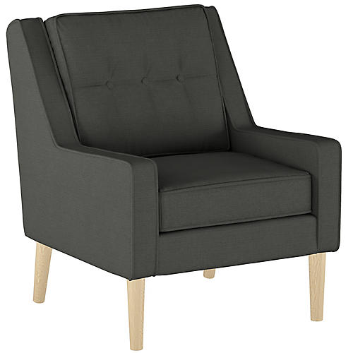 Shara Accent Chair, Charcoal