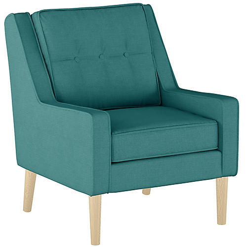 Shara Accent Chair, Teal