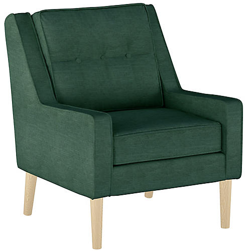 Shara Accent Chair, Forest Linen