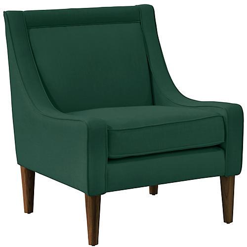 Scarlett Accent Chair, Forest Linen