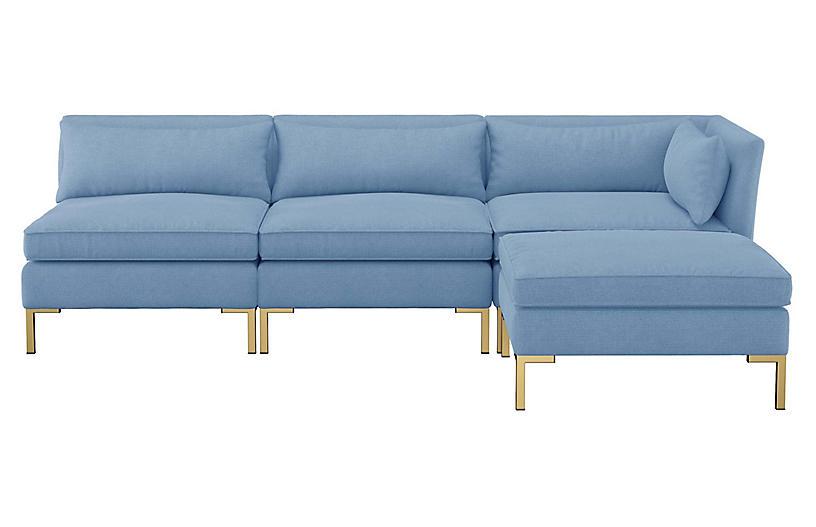 Peachy Marceau Reversible Sectional French Blue Linen Download Free Architecture Designs Fluibritishbridgeorg