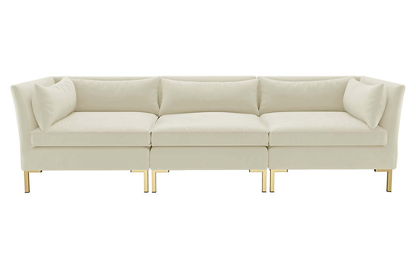 Marceau Velvet Modular Sofa