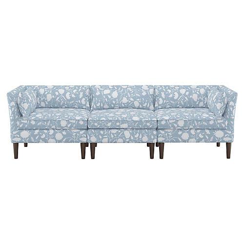 Marlee Modular Sofa, Floral Sky Linen