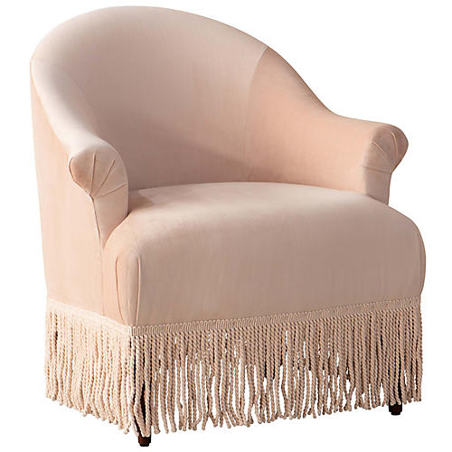Elise Chair, Blush Velvet