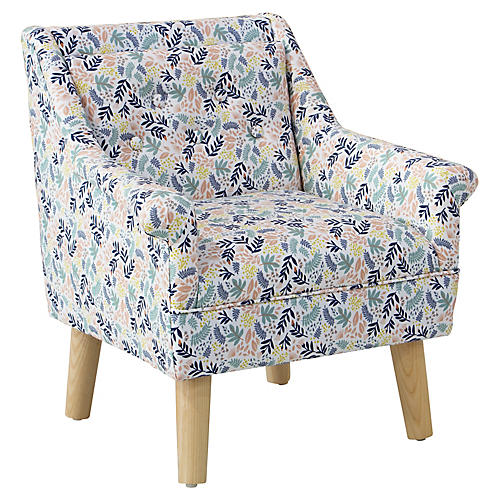 Bella Kids' Accent Chair, Floral Blush/Multi