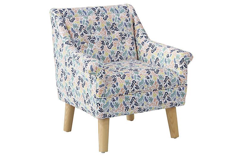 Bella Kids' Accent Chair, Floral Blush/Multi
