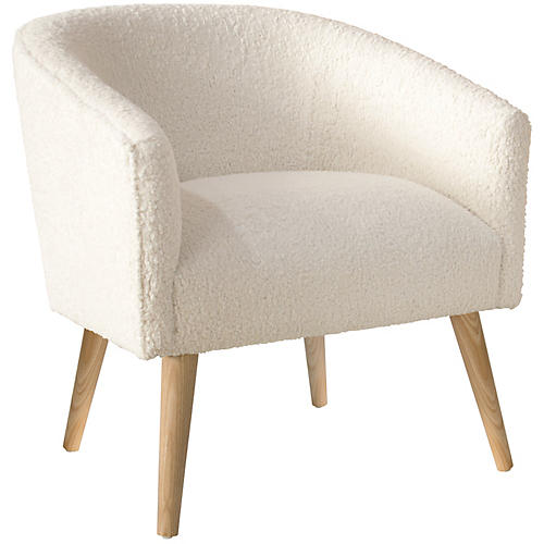 Leah Barrel Chair, Talc