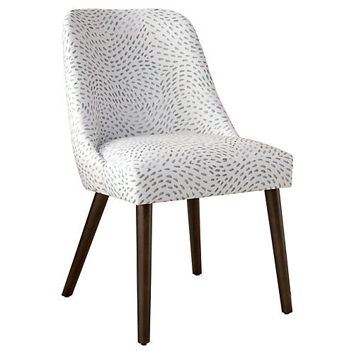 Barron Side Chair, Gray/White