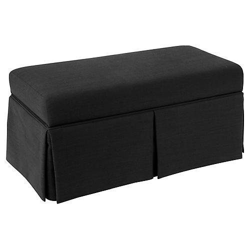 Hayworth Storage Bench, Black