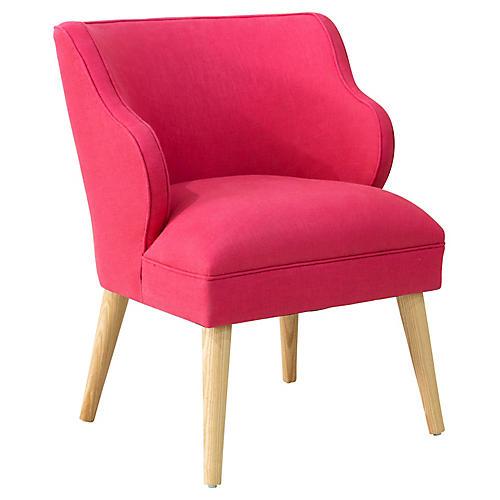 Kira Accent Chair, Fuchsia