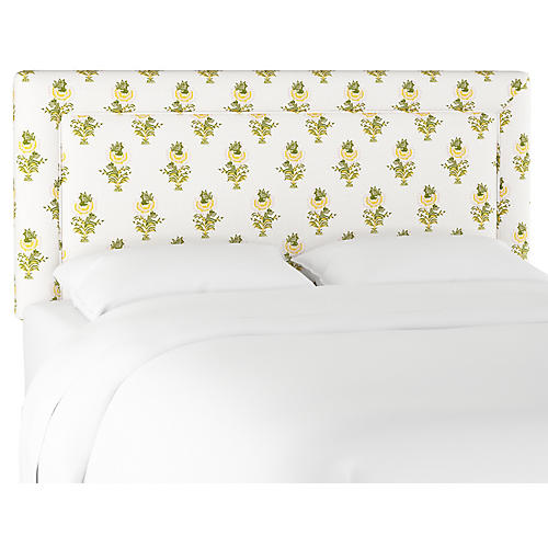 Desert Flower Headboard, Spring Green