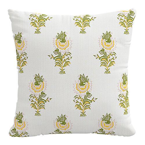 Desert Flower 20x20 Pillow, Spring Green