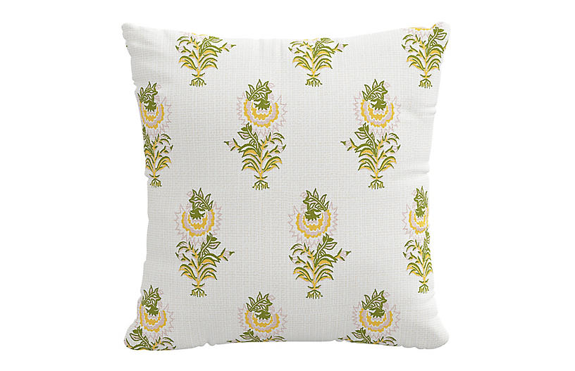 Desert Flower 20x20 Pillow, Spring Green