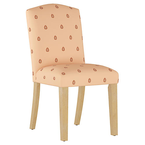 Mariposa Camelback Side Chair, Peach