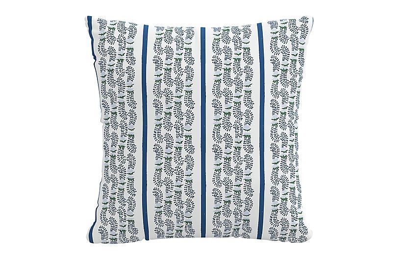 Agave Stripe 20x20 Pillow, Indigo