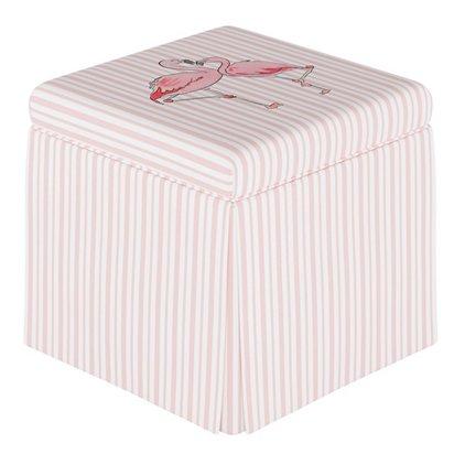 Awe Inspiring Flamingo Stripe Storage Ottoman English Pink Uwap Interior Chair Design Uwaporg